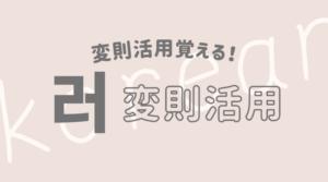韓国語 ハングル 変則 不規則 活用 러変則
